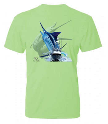 Signature Series - Blue Marlin and Boat (Poison) - Short Sleeve