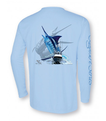 Signature Series - Blue Marlin and Boat - Bliss Blue