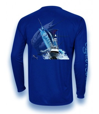 Signature Series - Blue Marlin and Boat (Royal Blue)