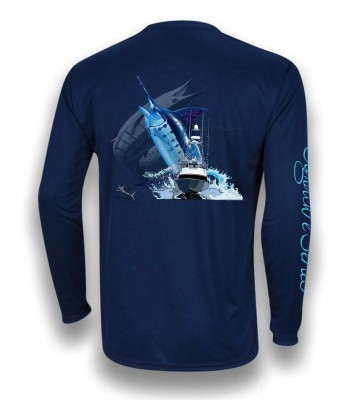 Signature Series - Blue Marlin and Boat (Navy Blue)
