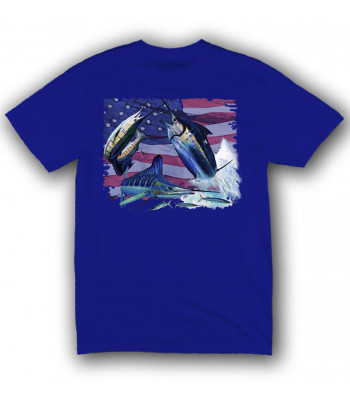 Signature Series - Grand Slam America Flag (Royal Blue) - Short Sleeve