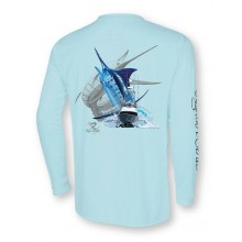 Signature Series - Blue Marlin and Boat - Sea Frost