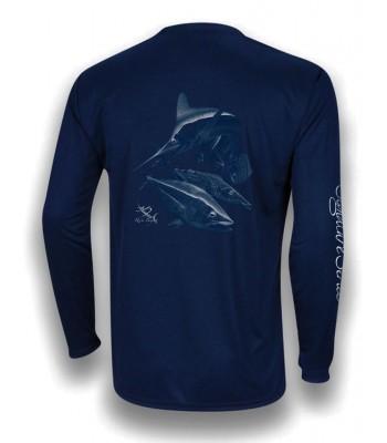 Signature Series Youth Performance - White Marlin, Tuna, Mahi, Wahoo (Navy Blue)