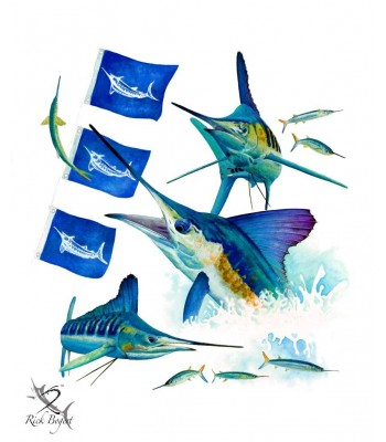 White Marlin Release Flags