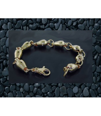 14K Gold Ball Bearing Swivel Bracelet