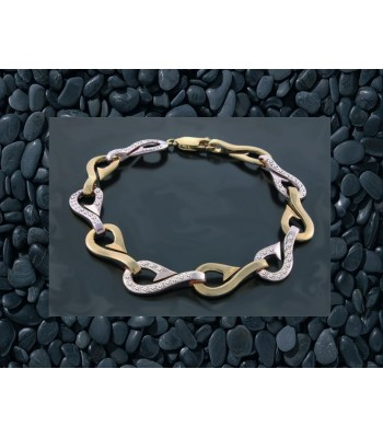 14K Gold and Diamond Hook Bracelet