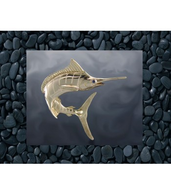 Jumping Marlin Gold Pendant