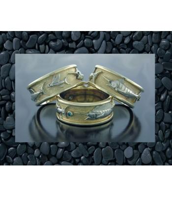 Grand Slam 14k Gold Ring