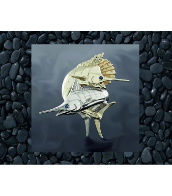 14K Gold Sailfish and Striped Marlin Pendant