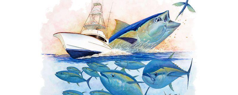 Rick Bogert - Ocean City Tuna Tournament Art 2016